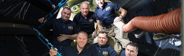 Crew inside BEAM. (Credit: NASA)