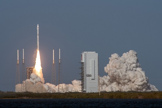 A United Launch Alliance (ULA) Atlas V rocket carrying EchoStar XIX satellite lifts off from Space Launch Complex-41 at 2:13 p.m. ET. (Credit: United Launch Alliance/Lockheed Martin)