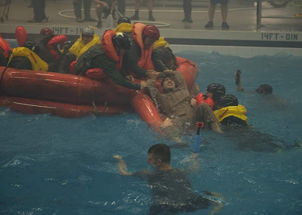 NASA Astronauts Take Water Survival Training With U S  Air Force