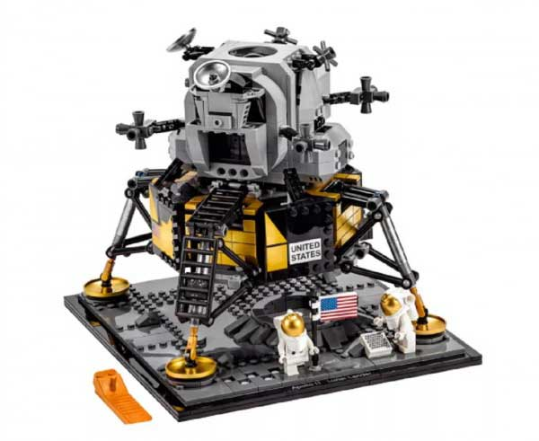 LEGO Group Commemorates First Moon Landing With NASA Apollo 11 Lunar Lander Building Set